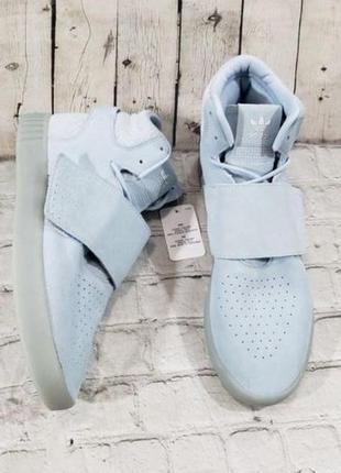 Голубые замшевые кеды сникерсы adidas р.39-40