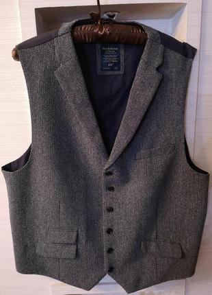 Стильная твидовая   классическая жилетка  бренда люкс  hammond