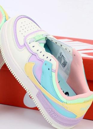 Nike air force стильные женские кроссовки найк в белом цвете (весна-лето-осень)😍6 фото