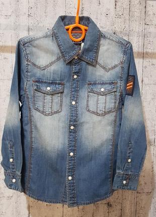 Рубашка джинс для мальчика на 5 лет