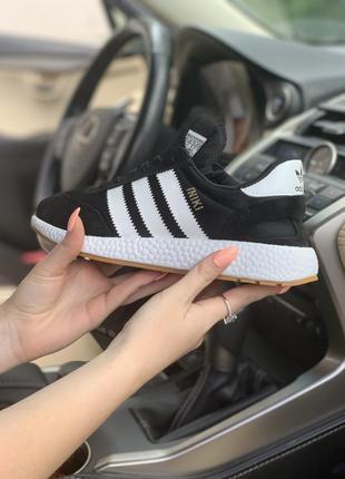 Adidas iniki black шикарные женские кроссовки адидас