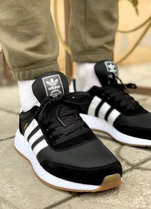 Adidas iniki black шикарные мужские кроссовки адидас