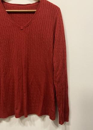 Свитер красный р.16 #569. sale!!!🎉🎉🎉4 фото