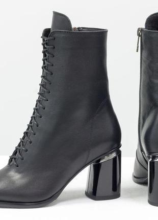 Новинка!кожаные ботинки на шнуровке