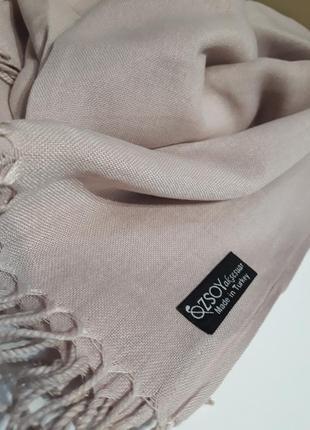 💝красивейший пудровый турецкий кашемировый шарф шаль расцветки