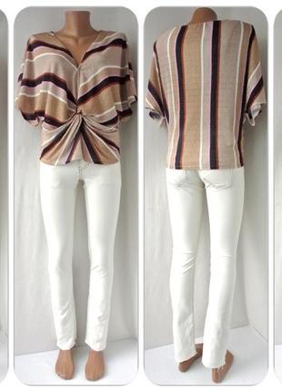 Оригинальная брендовая блузка жатка marks&spencer. размер uk14/eur42.