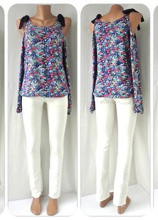 "Красивая вискозная блузка v by very"" с открытыми плечами. размер uk10/eur38."