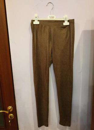 Лосины брюки принт коричневые кофейные
