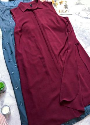 Крутое платье рубашка с разрезами по бокам bonadea