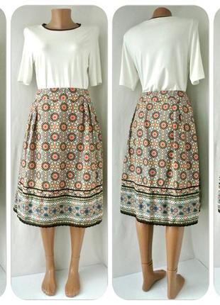 Пышная легкая хлопковая юбка tu с узором. размер uk10.
