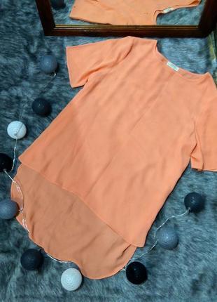 Блуза топ кофточка с удлиненной спинкой papaya
