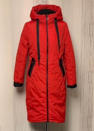 Шикарне демісезонне пальто 46-56 розмір