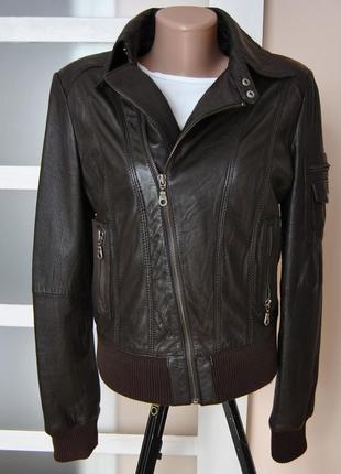Кожаная куртка косуха promod / шкіряна куртка