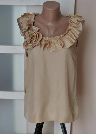 Шелковая нюдовая блуза / шовкова блузка