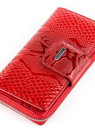 Брендовый кожаный кошелек karya, рептилия