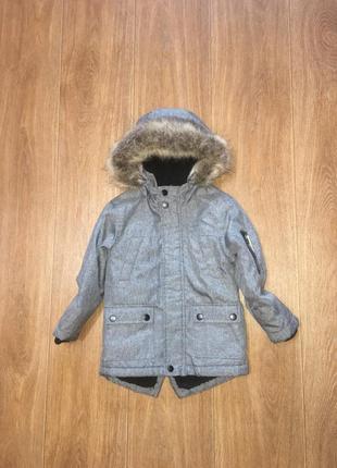 Теплая деми парка, куртка rebel, указано 3-4 г