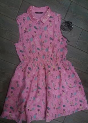 Классное яркое платье george 12-13лет в прекрасном состоянии