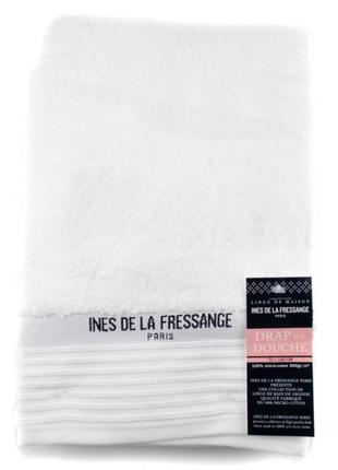 Хлопковое банное полотенце ines de la fressange белое (франция)