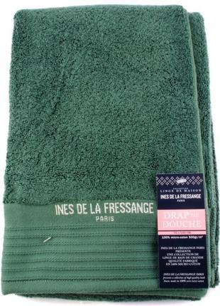Хлопковое банное полотенце ines de la fressange зеленое (франция)