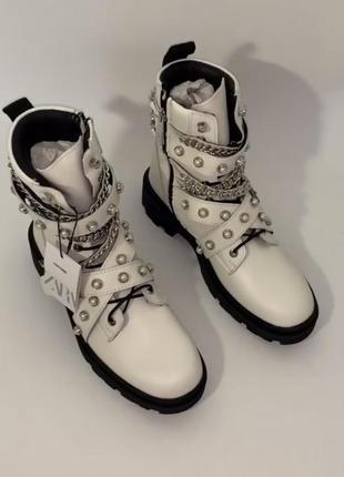 Кожаные ботинки сапоги zara 36