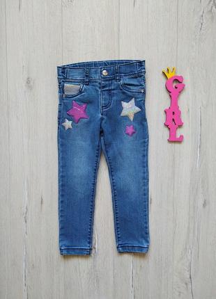 2-3 года, джинсы с паетками f&f.
