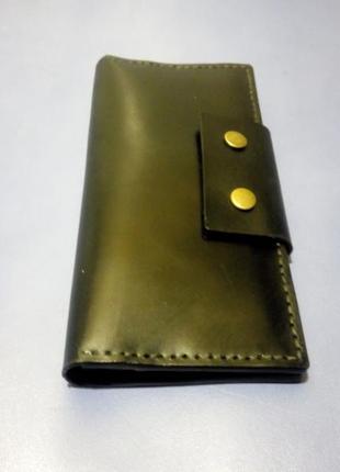 Чоловічий гаманець, мужской кошелек, натуральна шкіра, ручна робота