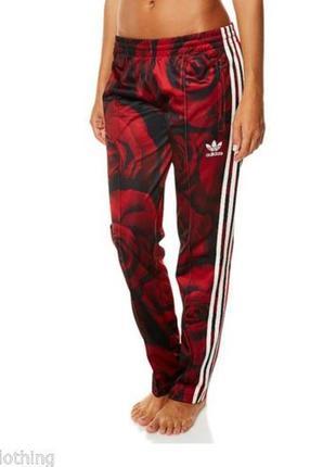 Спортивные зауженные штаны adidas оригинал редкий принт