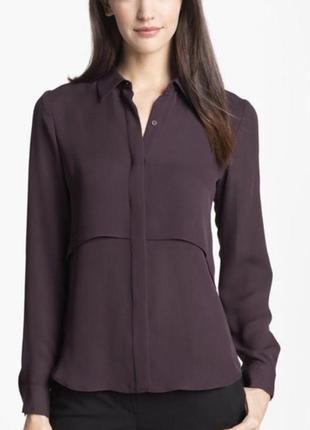 Шелковая блуза theory, премиум качества