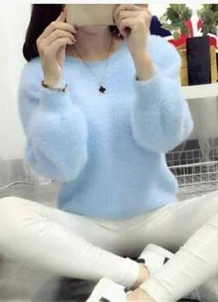 Мягусенький, воздушный свитер травка😍
