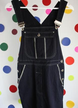 Джинсовый комбинезон сарафан юбка