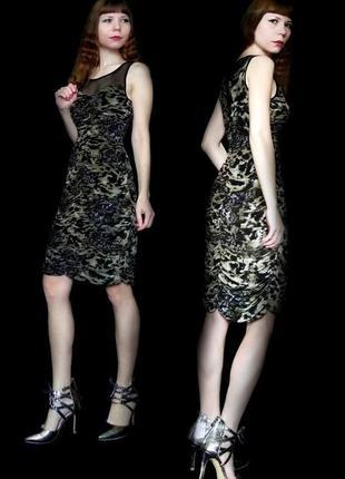 Платье нарядное с принтами клубное коктейльное вечернее фисташковое
