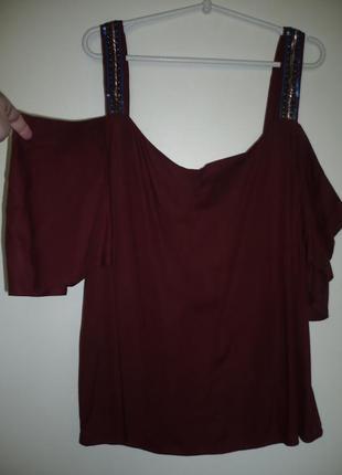 Блуза с открытыми плечами, оригинальная р.20