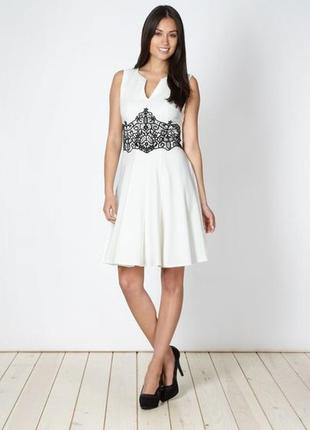 Star by julien macdonald роскошное белое платье с декором, р.16-44, наш 52-й