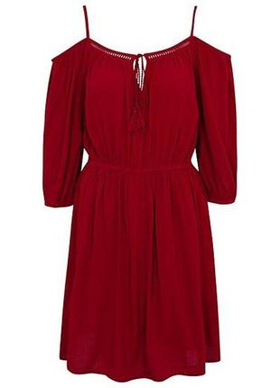 George шикарный вискозный сарафан платье с открытыми плечами, р.12-40, м-l