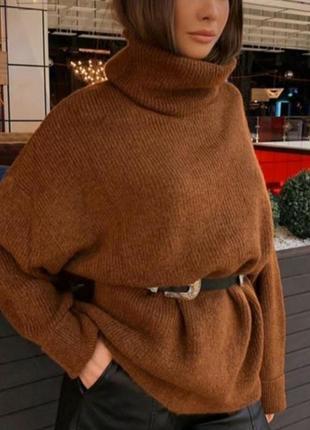 Теплый уютный  свитер divlin oversize.