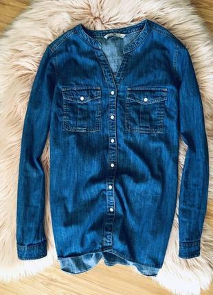 Крутая джинсовая рубашка tu