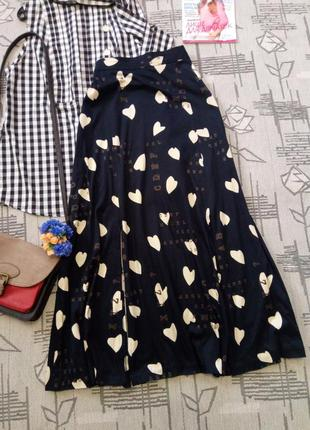 Стильная юбка миди длины, devernois, размер 10-12