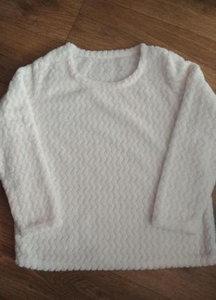 Белый пушистый свитер george, евроразмеры 16-18,44-46, укр. 52-54