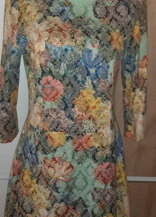 Праздничное платье из жаккарда, р.44-46