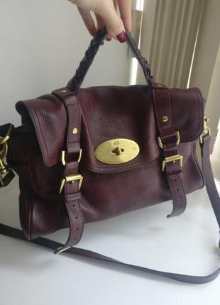 Брендовая сумка mulberry оригинал натуральная кожа
