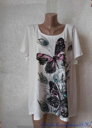 Фирменная george просторная футболка со 100 % хлопка с бабочкой, размер 6хл-7хл