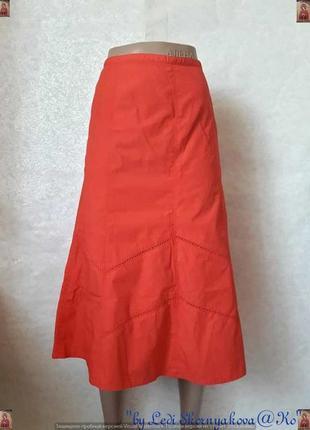 """Новая фирменная bhs 100 % хлопковая юбка миди красного цвета """"колокольчик"""", размер ххл"""