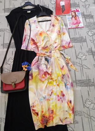 Нежное женственное платье на запах, tuzzi, размер 10-12