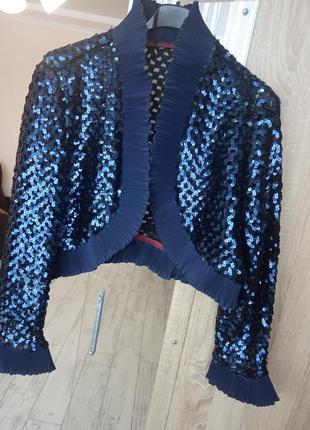 Нарядный пиджак болеро чешуя