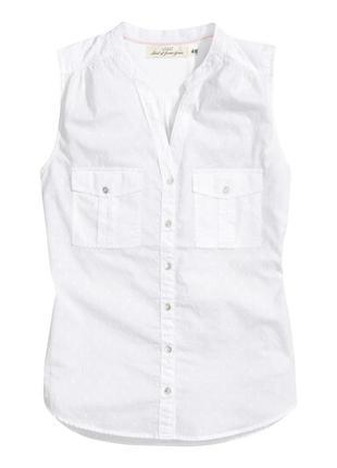 Блуза h&m белая  36