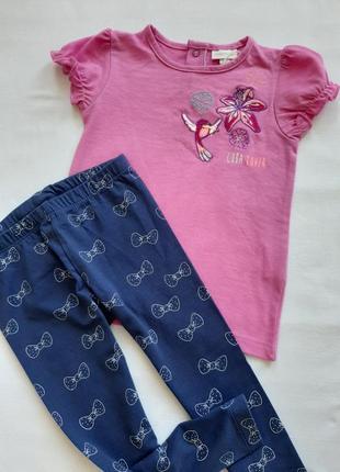 Комплект  футболка и лосины для девочки  р 89\92
