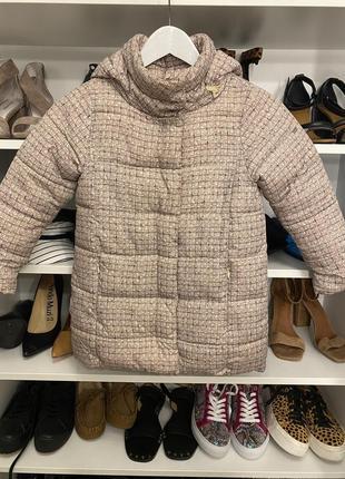Стильное пальто ido италия оригинал бежевое
