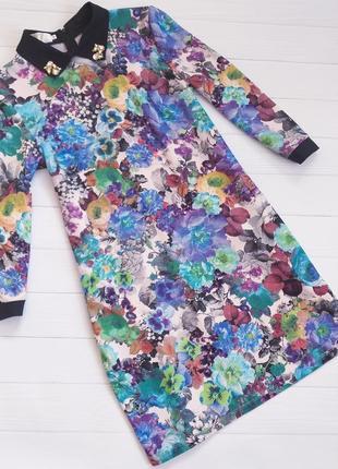 Бомбезное платье в цветочный принт