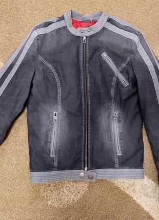 Женский джинсовый пиджак куртка moto р-р s