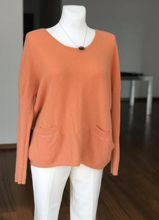 Кашемировый персиковый свитер allude германия